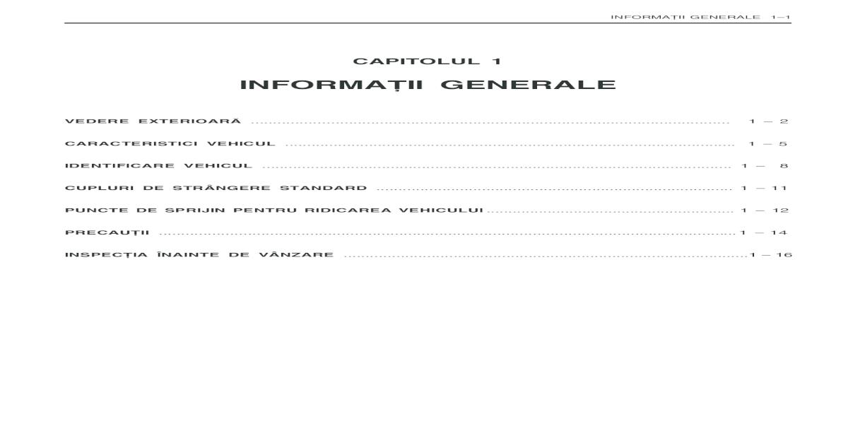 download Daewoo Damas Informatii Generale workshop manual