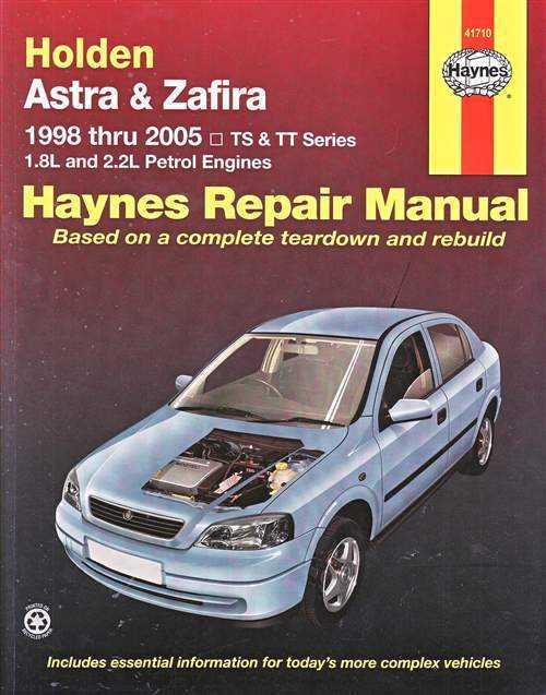 Holden Astra Zafira Ts Tt 1998 2005 Gregorys Service