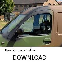 download RENAULT KANGOO I workshop manual