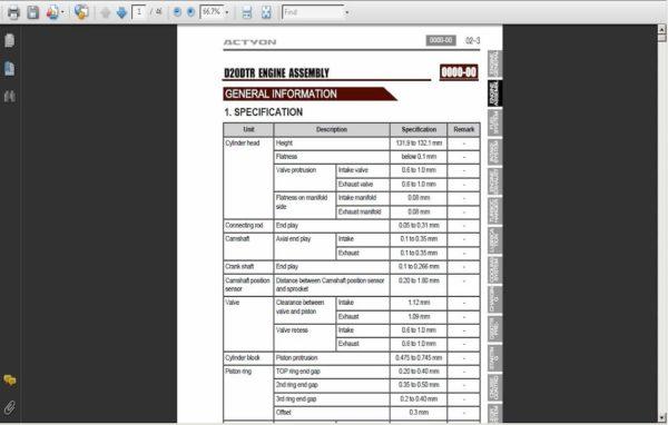 download SsangYong Korando C C206 workshop manual