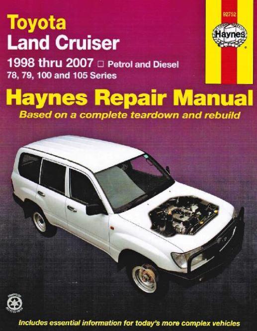 Toyota Land Cruiser 78 79 100 105 Series Diesel 1998 2004